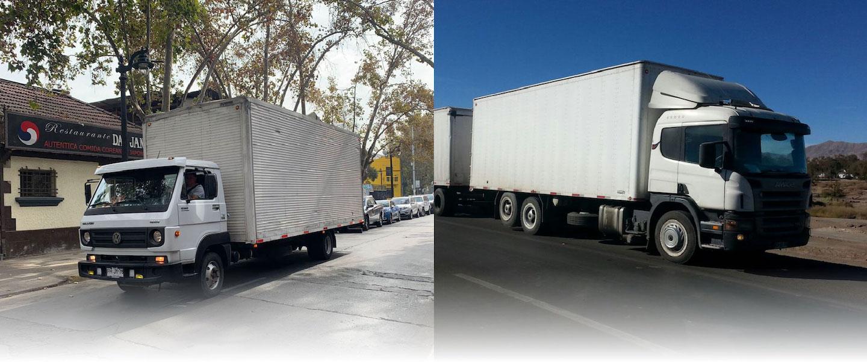 2 camiones de transporte de carga